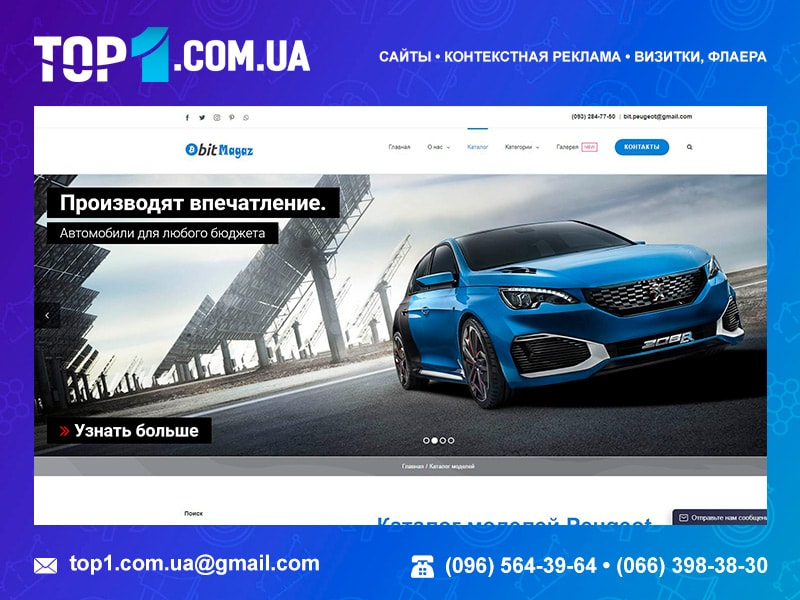 Создание сайтов. Портфолио Top1.com.ua. BitMagaz.club